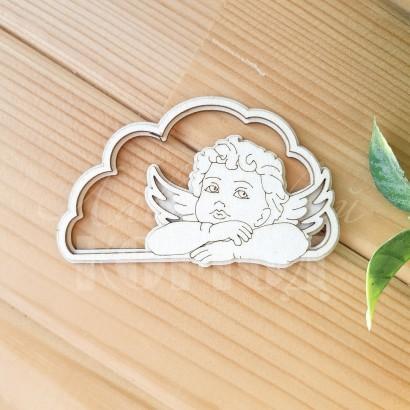 Чипборд. 3D Ангел на облаке ЧД-22
