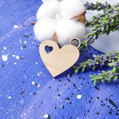 """Заготовка из дерева """"Подвеска сердце"""" ФНЗ-139"""