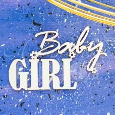 """Чипборд надпись """"Baby GIRL"""" НД-18"""