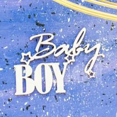 """Чипборд надпись """"Baby BOY"""" НД-19"""