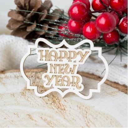 "Чипборд в рамке ""Happy new year"" НГЧ-99"