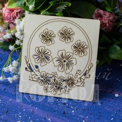 Рамка цветочная ЧР-11