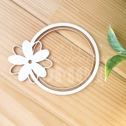 Чипборд Рамка с цветком ЧР-67