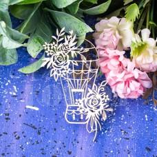 Чипборд Воздушный шар в розах. ЧА-19