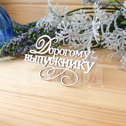 """Чипборд """"Дорогому выпускнику"""" ШК-09"""
