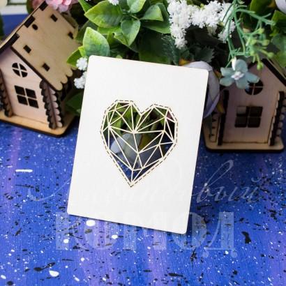 Чипборд Геометрия: сердце (карточка) ЧЮ-16