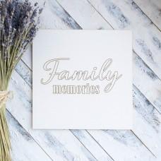 """Заготовка для тиснения """"Family memories"""" ЧЗ-60"""