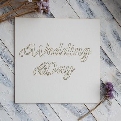 """Заготовка для тиснения """"Wedding day"""" ЧЗ-66"""