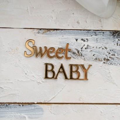 "Декор из зеркального пластика ""Sweet BABY"" ЗП-81"