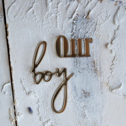 "Декор из зеркального пластила ""Our boy"" ЗП-89"