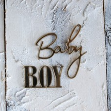"Декор из зеркального пластила ""Baby boy"" ЗП-95"