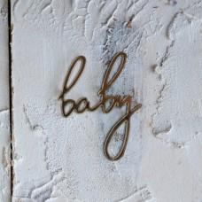 """Декор из зеркального пластила """"Baby""""-2 ЗП-94"""