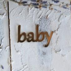 """Декор из зеркального пластила """"Baby"""" ЗП-92"""