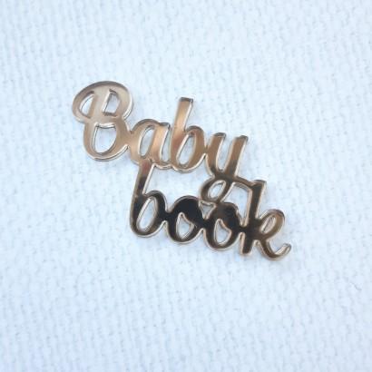 "Надпись из зеркального пластика ""Baby book"" ЗП-21"