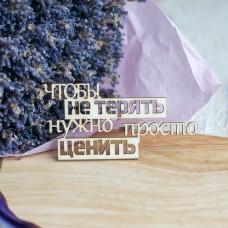"""НО-173 Чипборд """"Чтобы не терять нужно…"""""""